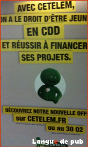 Affiche Cetelem : marre de voir les portes du crédit se refermer ?