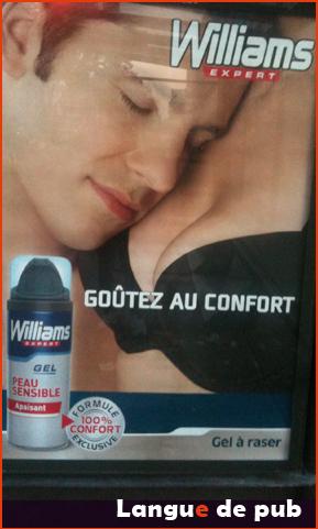 Affiche Williams Goutez au confort