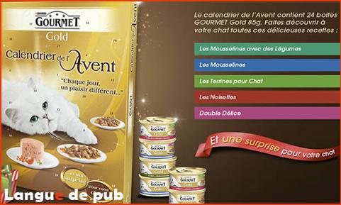 Calendrier de l'Avent pour chat Gourmet