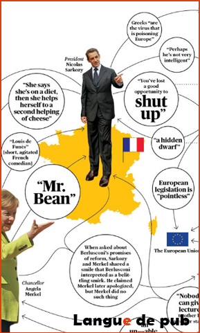 Infographie surnoms et insultes dirigeants européens Bloomberg business week