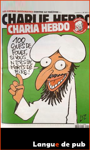 Charlie Hebdo : couverture Charia hebdo