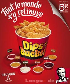 KFC dips' bucket