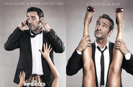 Les infidèles affiche Jean Dujardin / Gilles Lelouche