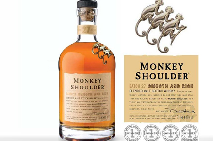 Bouteille de whisky Monkey Shouder