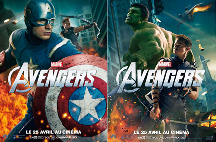 The avengers : affiche Captain America et Hulk