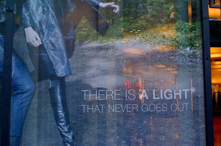 There is a light that never goes out vitrine Kooples