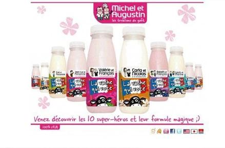 Yaourts à boire Michel et Augustin candidats présidentielle 2012