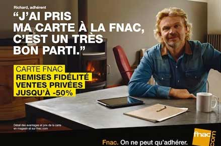 Affiche Fnac Richard Branson