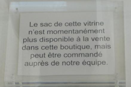 Sac_Comptoir des cotonniers, rupture de stock