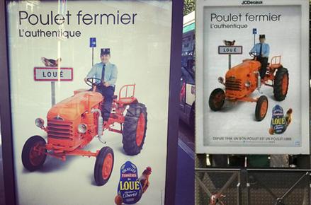 Affiche Authentique poulet fermier de Loué