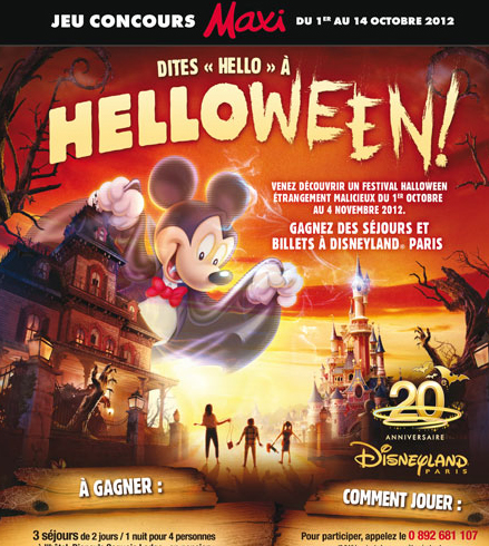 Affiche Helloween Disneyland Paris