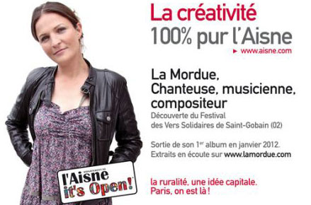 Affiche : la créativité 100% pur l'Aisne