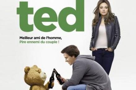 """Affiche Ted """"meilleur ami de l'homme, pire ennemi du couple"""""""