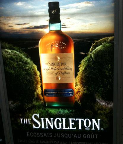 "Singleton : ""écossais jusqu'au goût"""