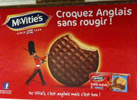Publicité McVities : croquez anglais sans rougir