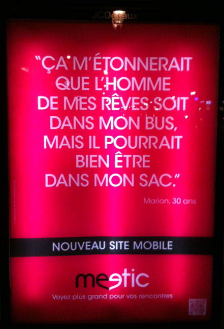 Affiche meetic mobile