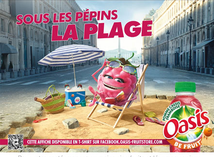 Affiche Oasis sous les pépins la plage