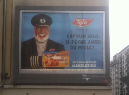 """Captain Iglo : affiche il pêche aussi du poulet"""""""